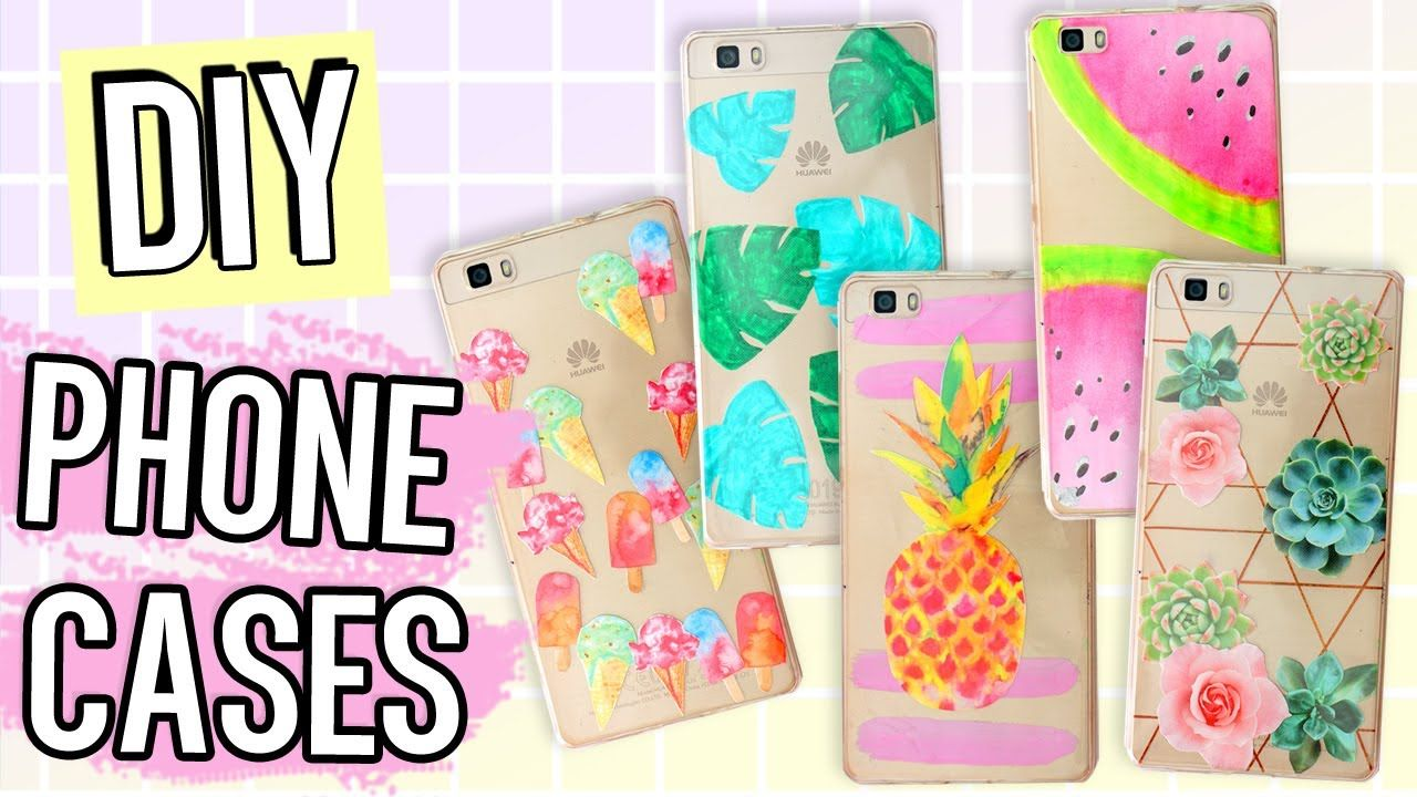 7 1 Diy Phone Case Ideas For Summer Using Only One Case Diy