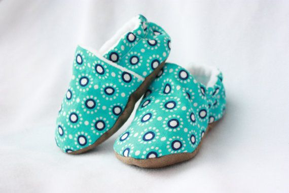 Blue burst baby shoes girl by TheTinyDictator on Etsy