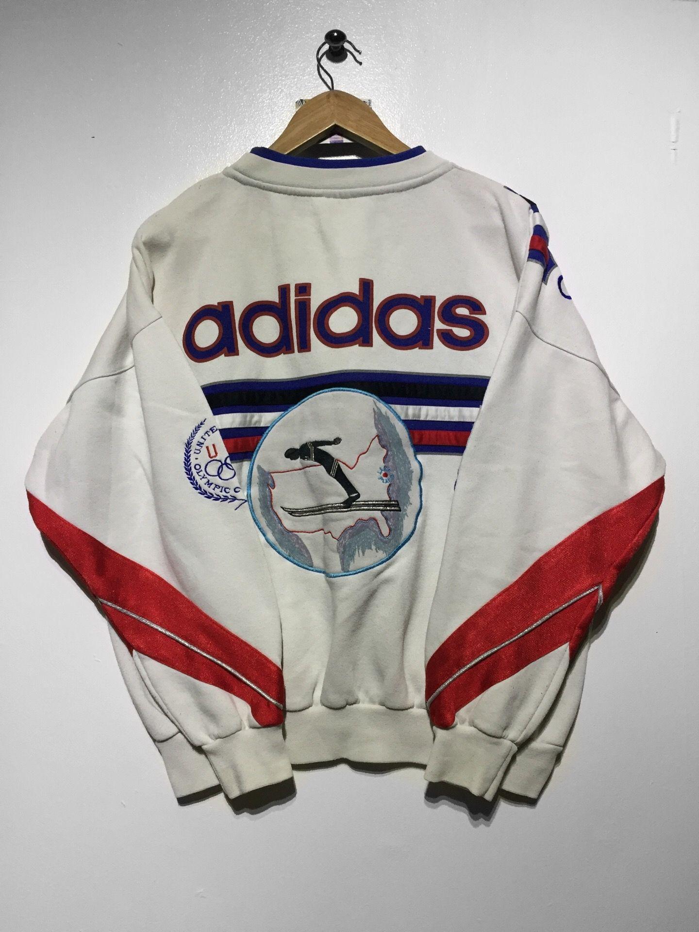 2e802595ca Adidas Winter Olympics sweatshirt size medium £110 Website➡ www.retroreflex. uk  addias  vintage  oldschool  sweatshirt