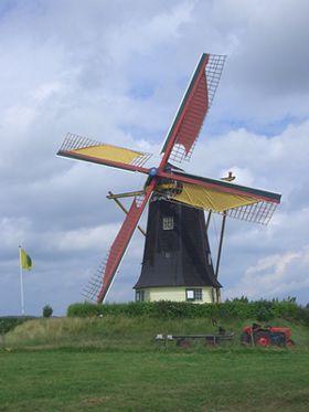 Flour mill De Jonge Johannes, Serooskerke, the Netherlands
