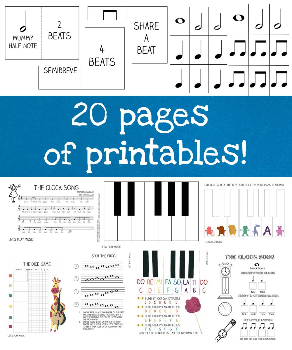 Worksheets Piano Worksheets first piano lessons ebook pianos and printable announcing the launch of 50 pages fun teaching