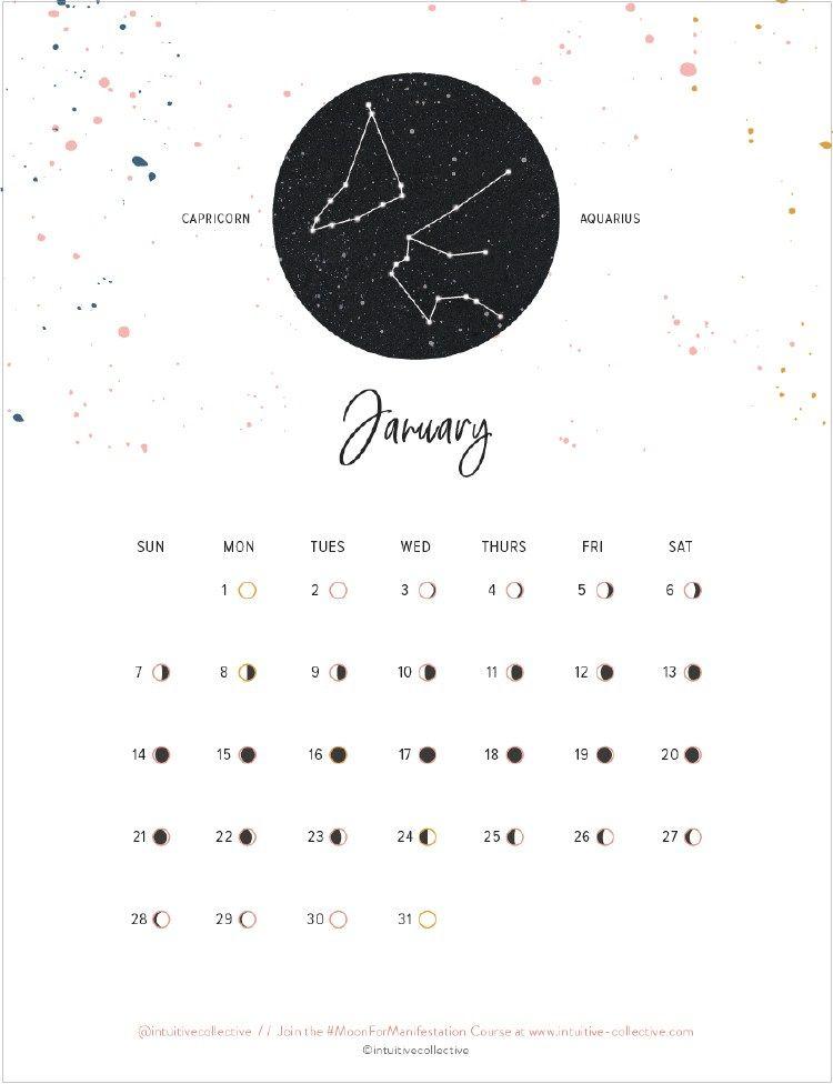 10 Free Printable 2018 Calendars To Keep You Organized Moon