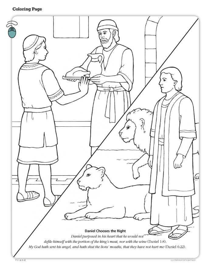 LDS Coloring Pages | 2014- | Book of Daniel-Coloring Pages ...