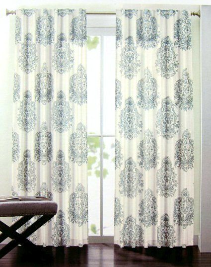 Amazon Com Nicole Miller Set Of 2 Long Window Panels Curtains