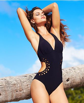 Profile by Gottex Swimsuit, Halter One-Piece Monokini