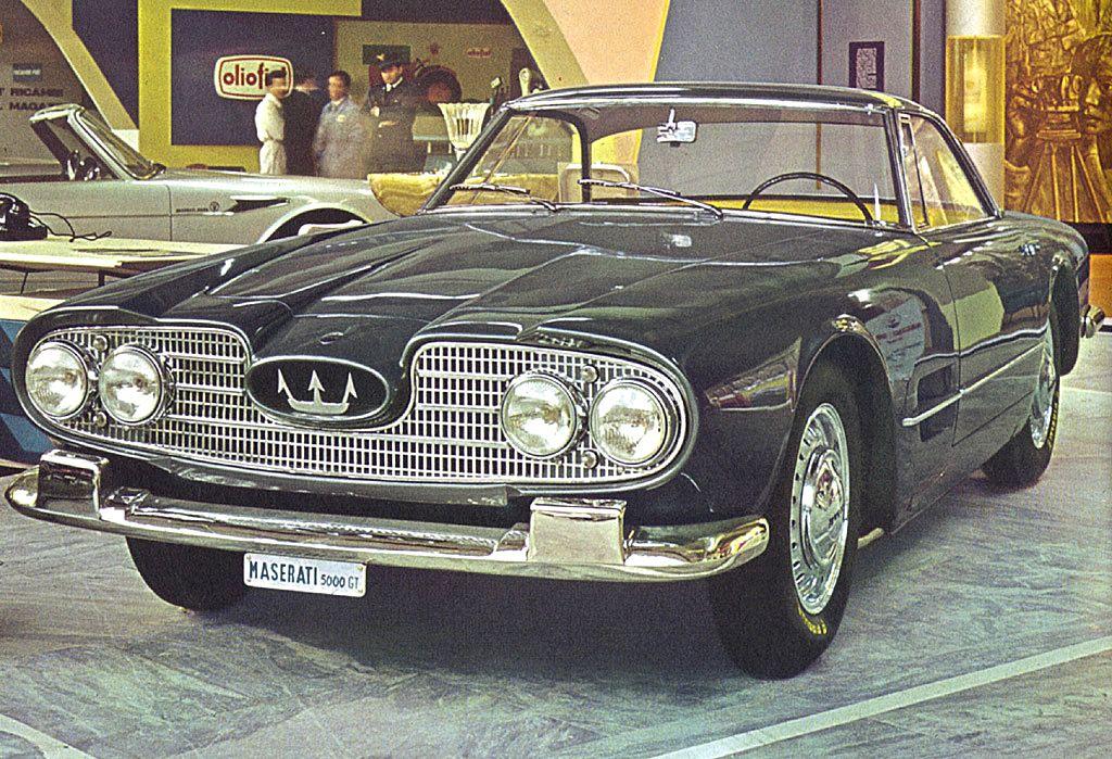 1959 Maserati 5000 GT (Touring) - Studios | Мазерати, Классические автомобили, Автомобили