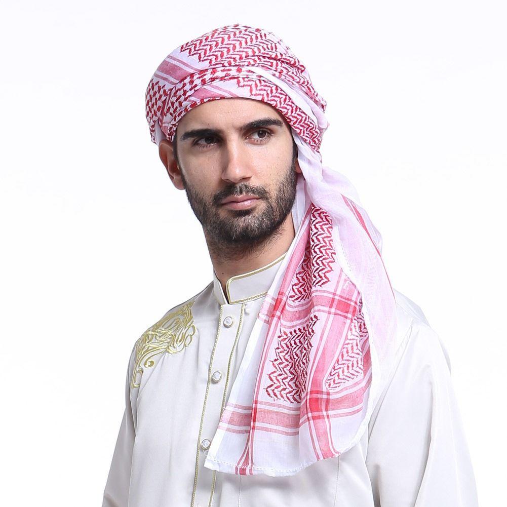 Muslim Hats For Men Arabia Man Scarf Muslim Hijab Scarf ...