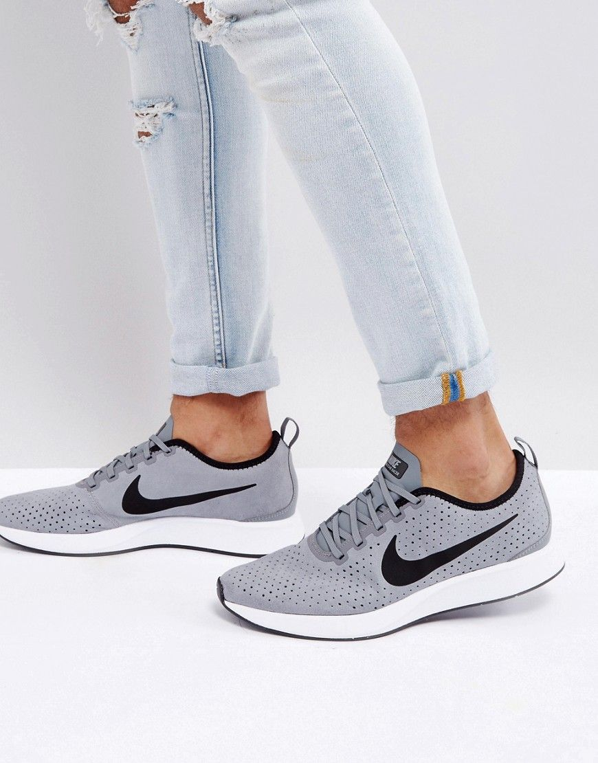 Get This Nike S Sneakers Now Click For More Details Worldwide Shipping Nike Dualtone Racer Premium Trainers In Grey 924448 001 Grey Trai Grey Nike Sneakers Nike Sneakers Nike