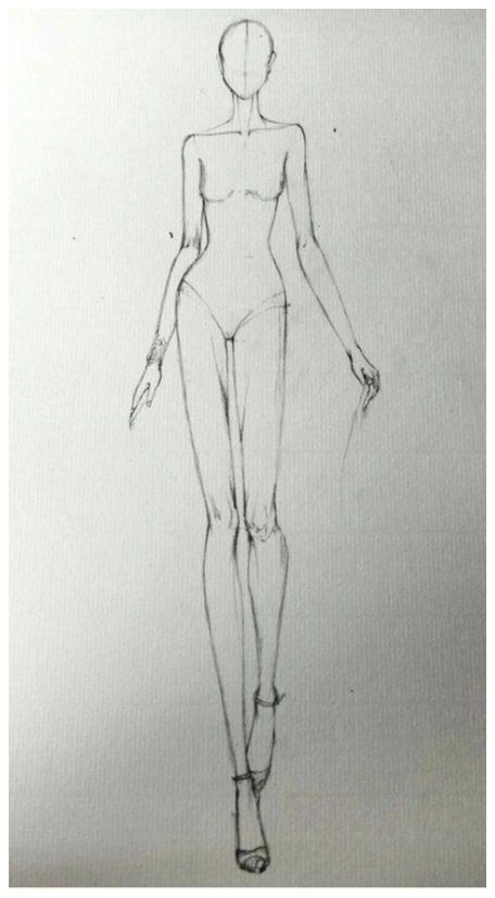 Photo of fashion design drawing sketches beautiful