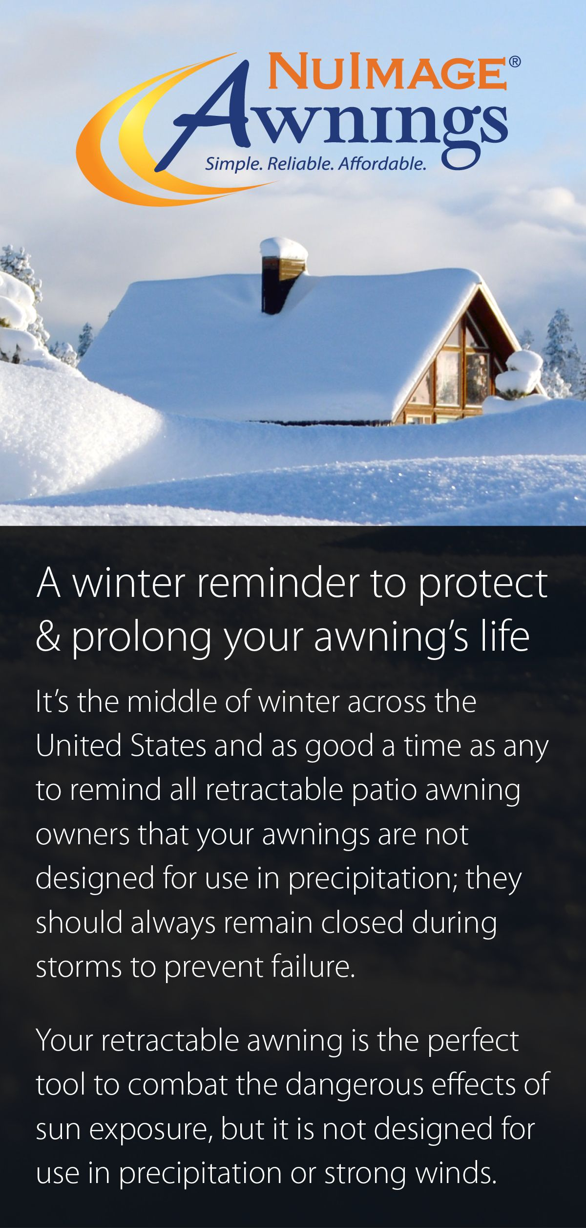 A Winter Reminder To Protect And Prolong Your Awning S Life From