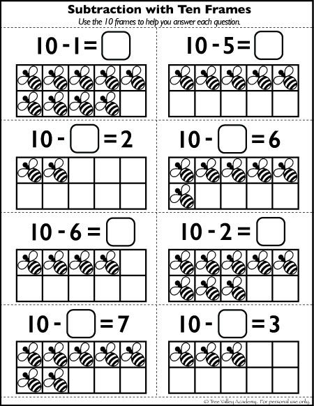 Free Number 10 Worksheets For Kindergarten Grade 1 Preschool Free Math Worksheets Free Math Printables Math Printables