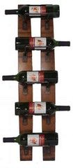 5 Bottle Stave Wall Rack Wine Holder Gifts Oavkille Murrons | Murron's Cabinetree