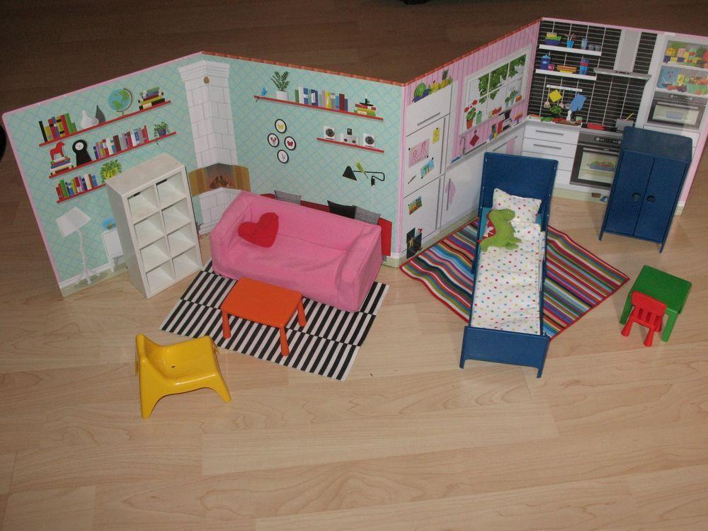 Ikea Barbie Puppen Möbel Set von Ikea für Barbiepuppen Platz - barbie wohnzimmer möbel