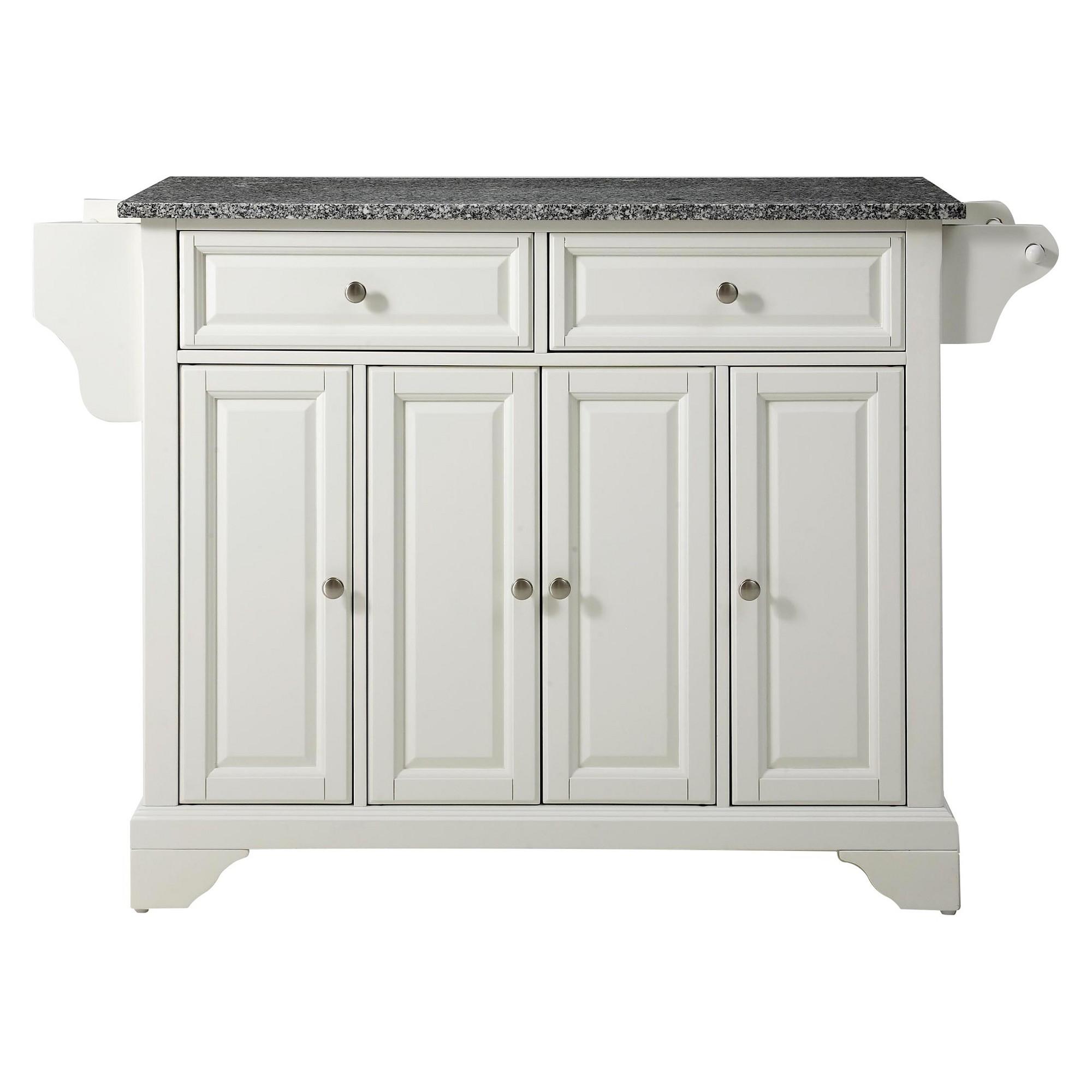 Granite Top Kitchen Island White