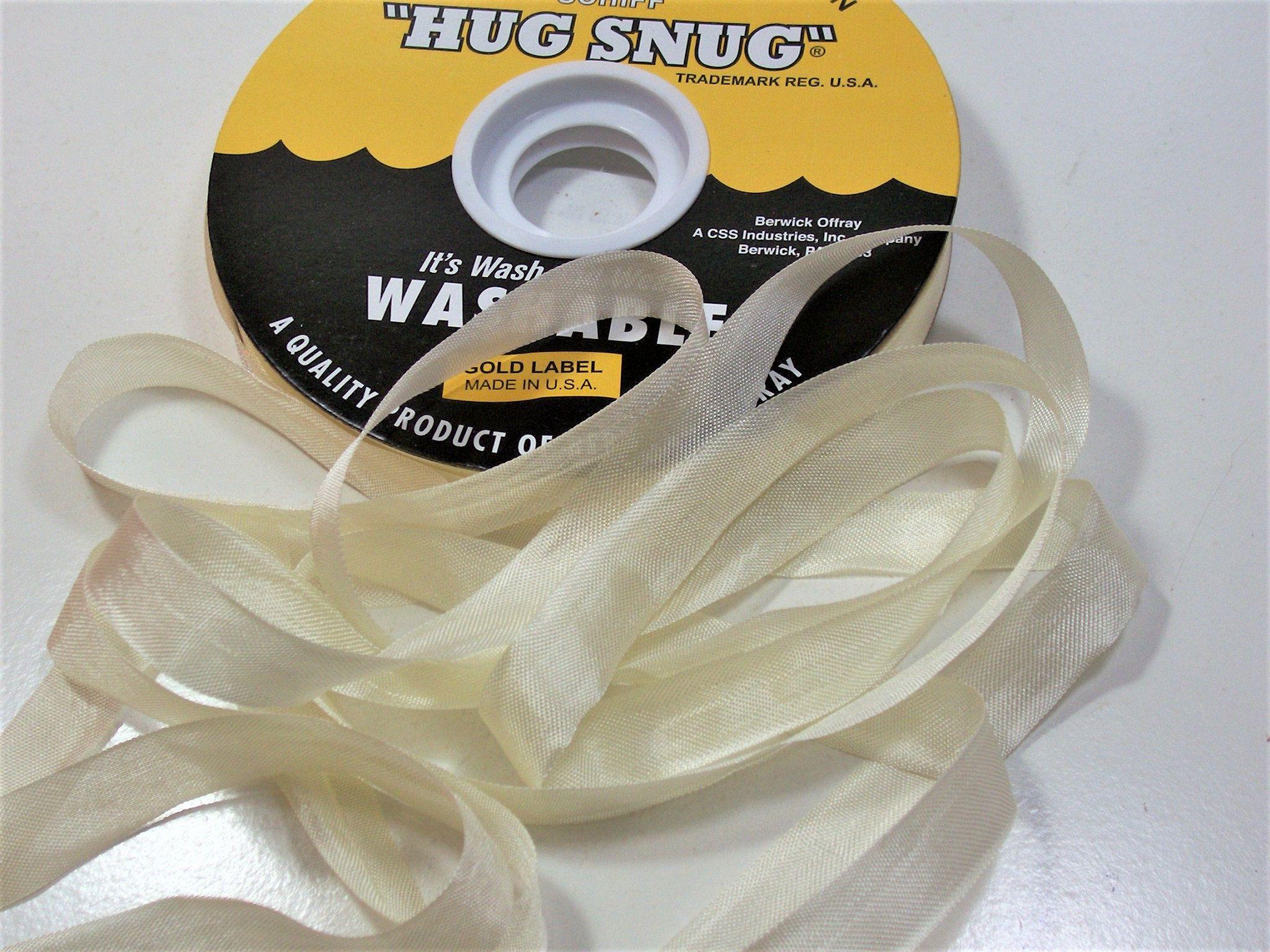 "1,5"" Ivory Cream Organza Wired Ribbon 3 Yards"