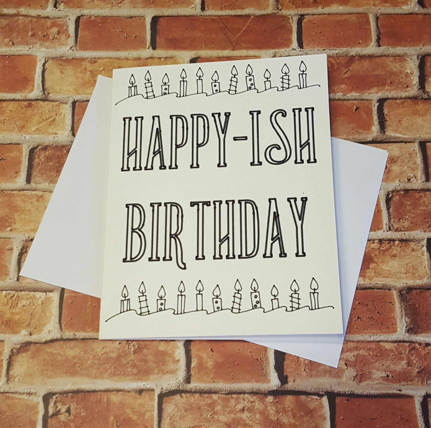 Happy Ish Birthday Greeting Card Funny Cards Birthday Cards By