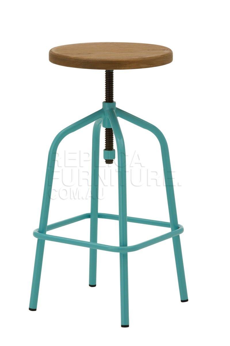 Groovy Baby Blue Retro Turning Stool Bar Stools Online Australia Spiritservingveterans Wood Chair Design Ideas Spiritservingveteransorg