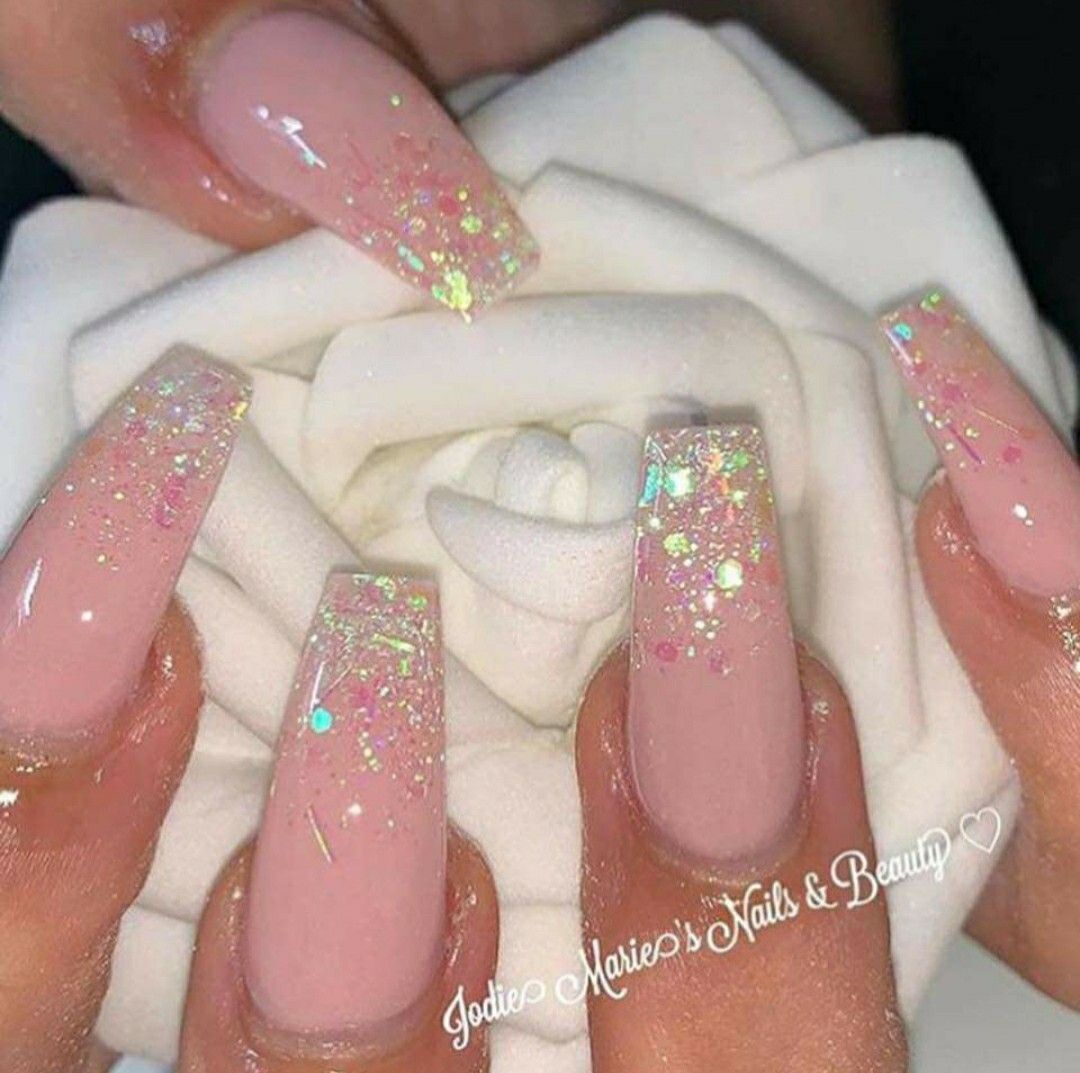 Pin By Zuzia Rutecka On Nail Ideas In 2020 Ombre Nails Glitter Pink Glitter Nails Pink Nails