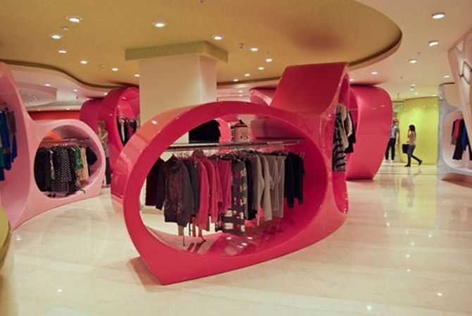 Modern Fashion Store Interior Decorating Colorful Stylish Ideas