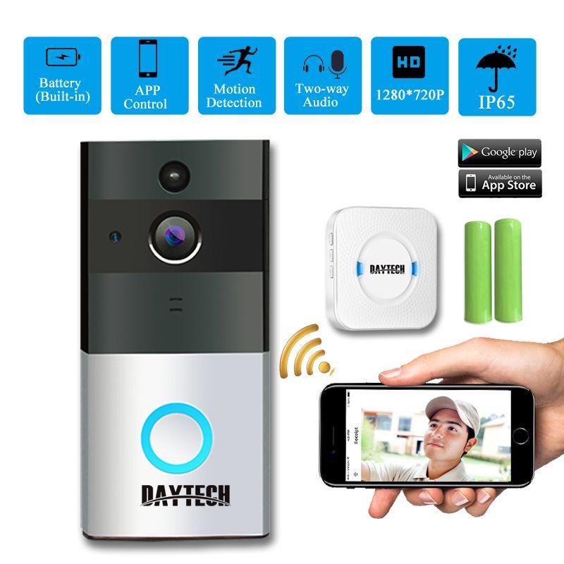 Daytech Wireless Wifi Video Doorbell Camera Ip Ring Door Bell