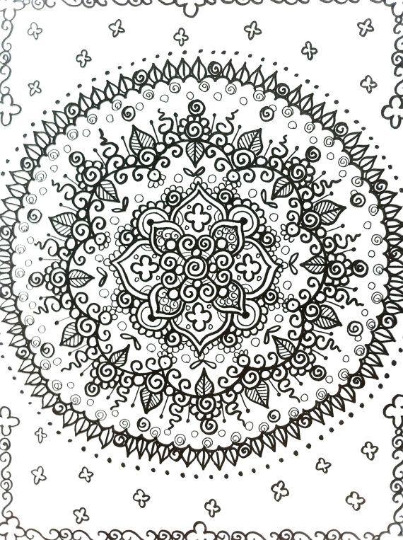 MANDALAS Henna Estilo Coloring Book A Color Deja Por ChubbyMermaid