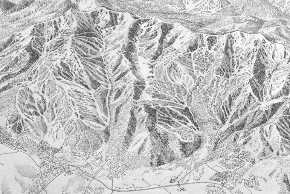 The Art of Painting Ski Trail Maps - Gear Patrol