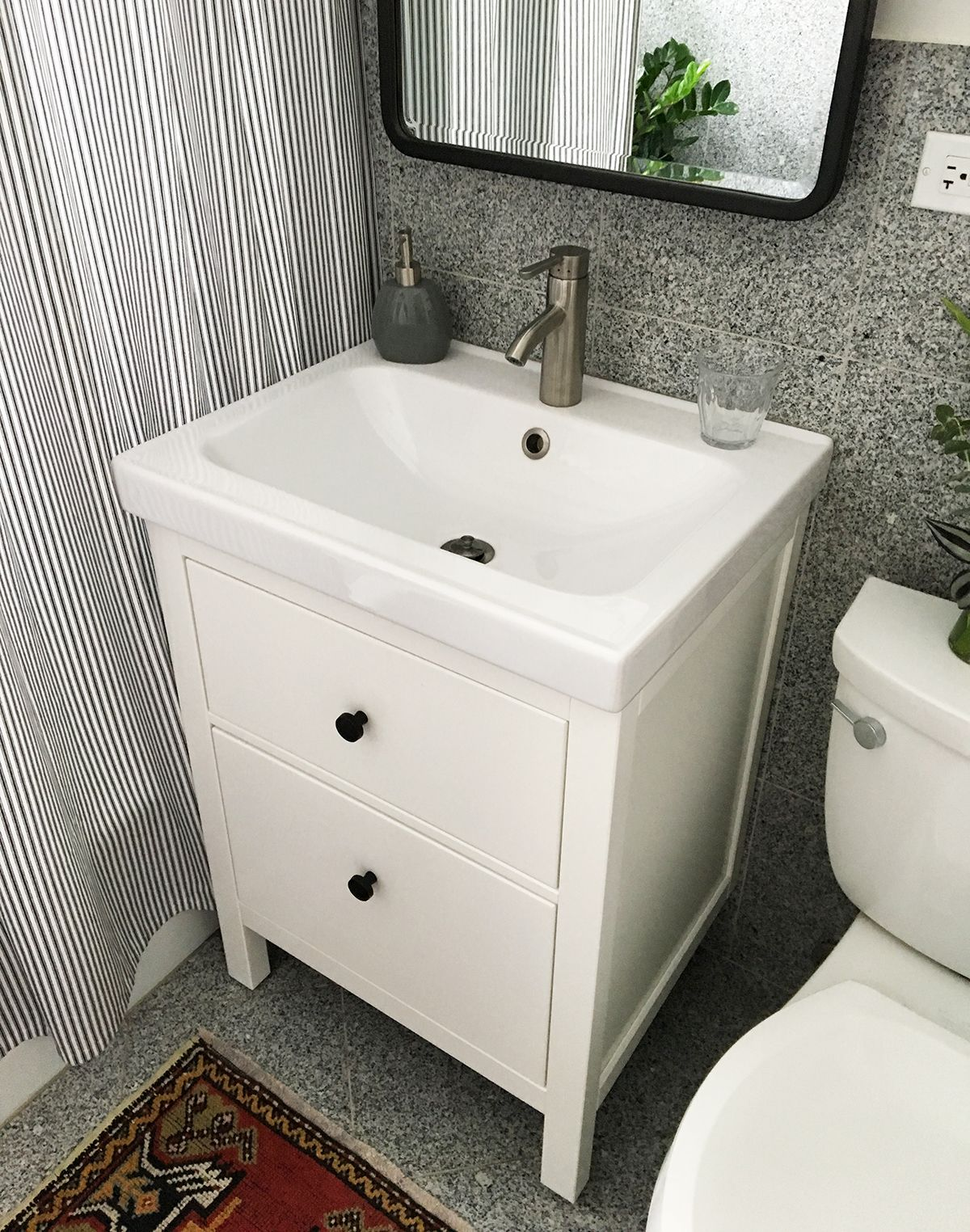 Installing a hemnes odensvik bathroom vanity and sink - How to install a bathroom vanity ...