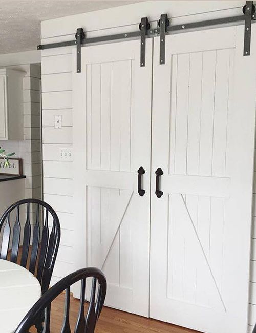 Superbe The Barn Door Hardware Store A Double Sliding Barn Door Hardware Kit With  8u0027 Track As Well As Many Other Barn Door Hardware Options.