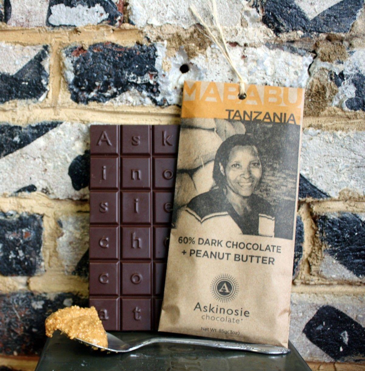 60% Dark Chocolate Peanut Butter Bar | Askinosie Chocolate ...
