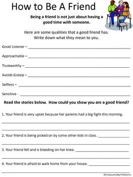 Friends Social Skills Worksheets With Images Teaching Social