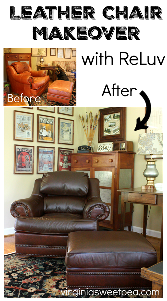 Leather Chair And Ottoman Makeover With Reluv Diy