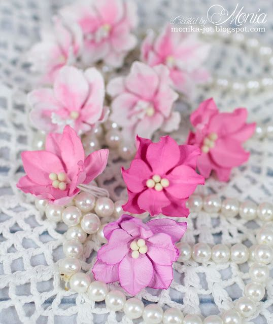 Moja papierowa kraina i znowu kwiaty my handmade flowers my pink handmade flowers by monia cards and paper crafts at splitcoaststampers mightylinksfo