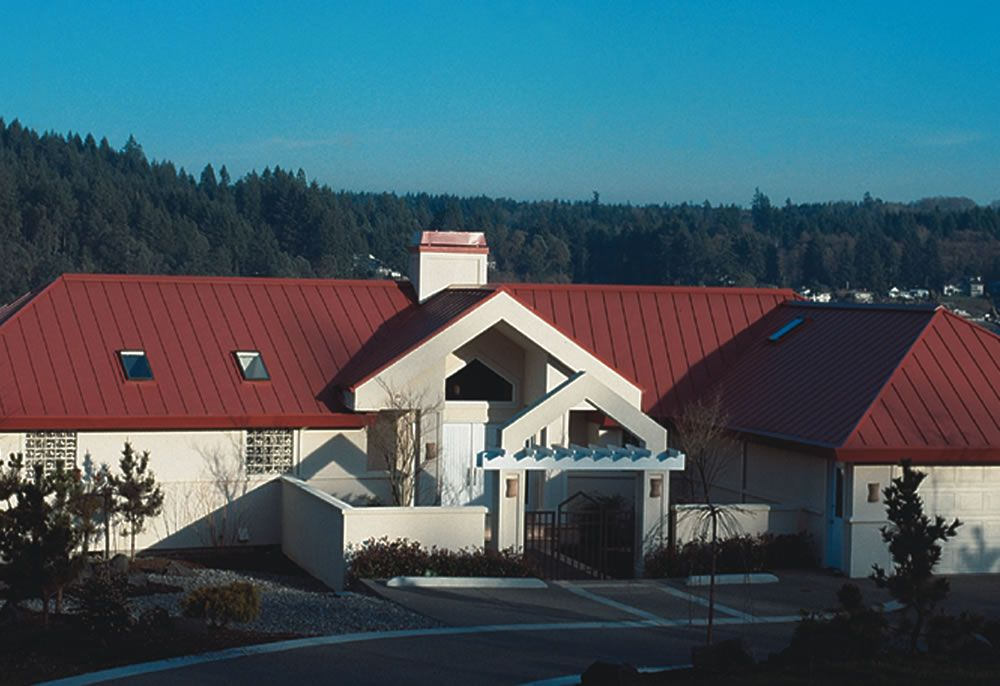 Project Rustic Red Nor Clad Roof Location Pacific Northwest Products Nor Clad Color Rustic Red Residential Metal Roofing Metal Roof Colors Metal Roof