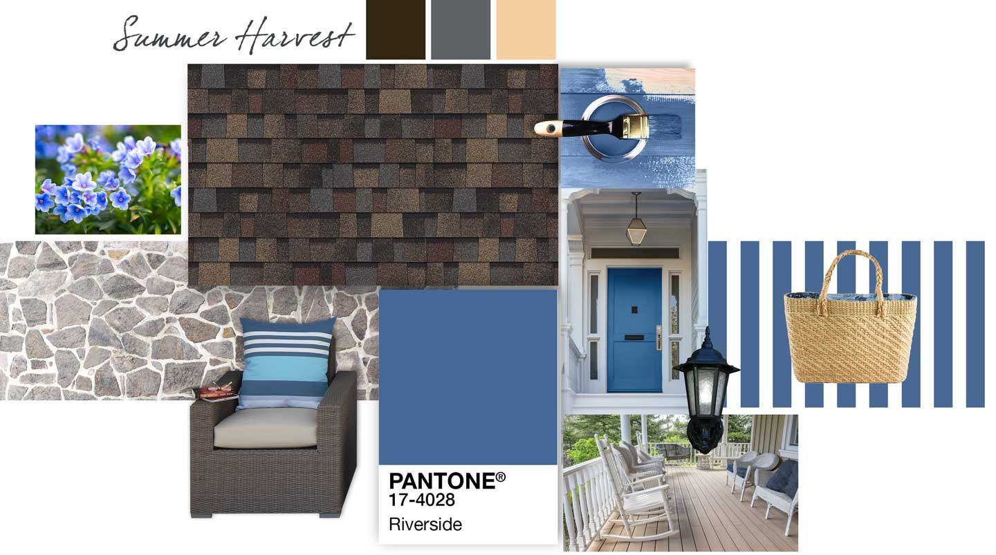 Owens Corning Roof Palette Summer Harvest Riverside Exterior House Colors Roofing Shingle Colors