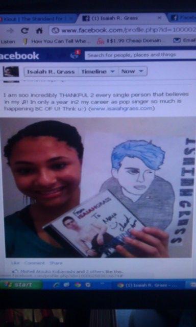 A fan draws Isaiah Grass