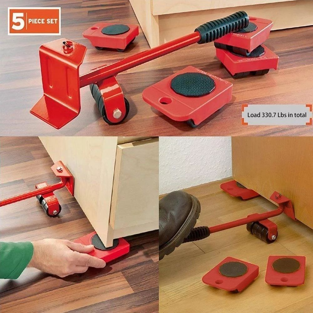 5 In 1 Moving Heavy Object Handling Tool Rockcoo Furniture Movers Moving Furniture Moving Tools