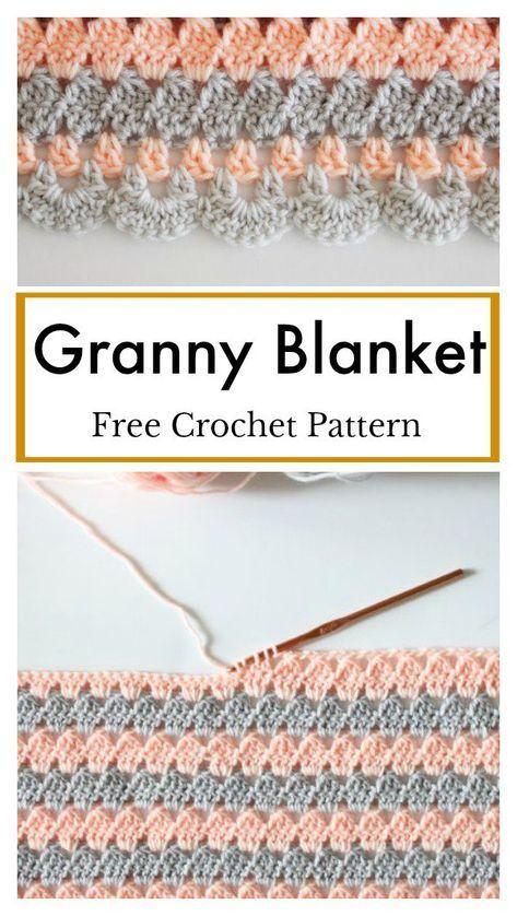 Modern Granny Blanket Free Crochet Pattern | Crochet blankets ...