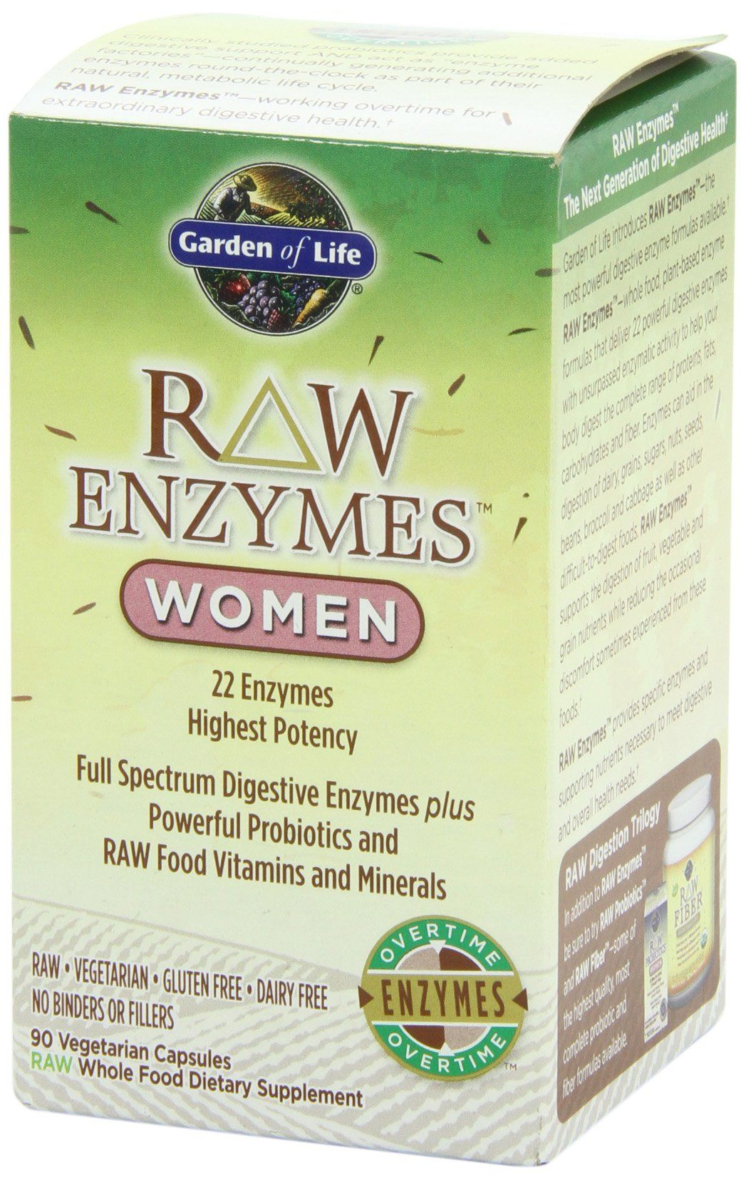Garden Of Life Raw Enzymes Women 90 Capsules Digestive Supplements Digestion Digestive Enzymes