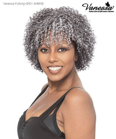 Vanessa Full Wig Grey Amerie Synthetic Full Wig Natural Hair