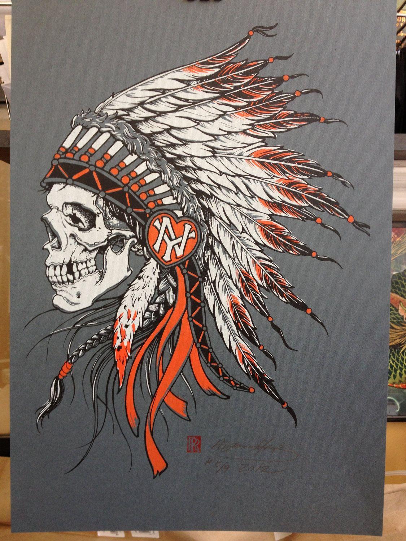 Native american warrior skull tattoos for Native design