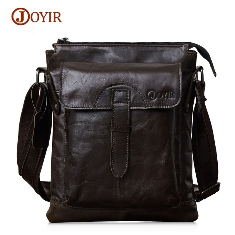 4a1b121edc90 JOYIR 2017 New Arrival Men s Shoulder Bag Genuine Cowhide Leather Men s  Messenger Bags For Men Travel