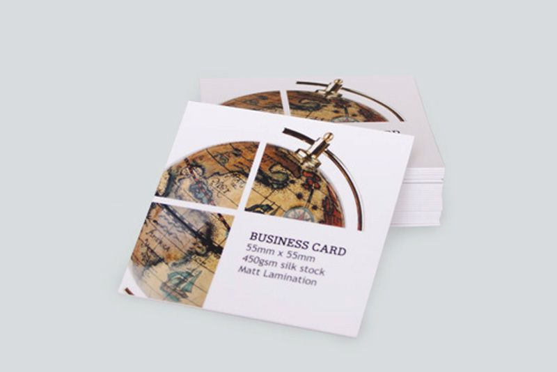 Square Matt Laminated Business Cards Create Id On Afterhourscreativestudio Choose Any Attractive Square Type Of Matt Laminated Business Cards On Online W