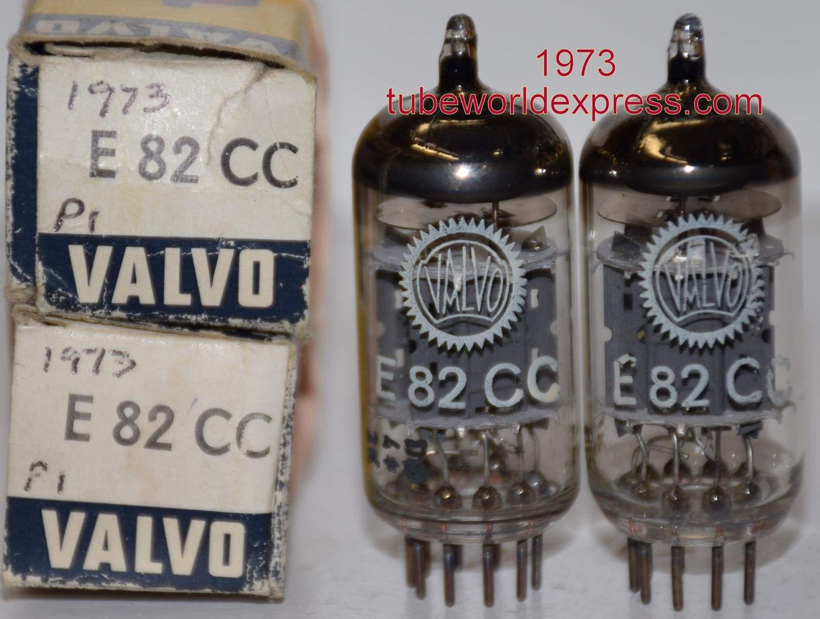 1 E82cc Pair E82cc 12au7wa Siemens Rebranded Valvo Triple Mica Vacuum Tube Vintage Valve Old Radios