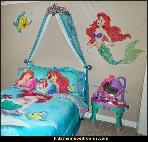 ariel themed bedroom decorating ideas-ariel themed bedroom decorating  ideas. Little Mermaid ... - The Little Mermaid Themed Girl's Room FoOd * FaMiLy *HoMe DIY