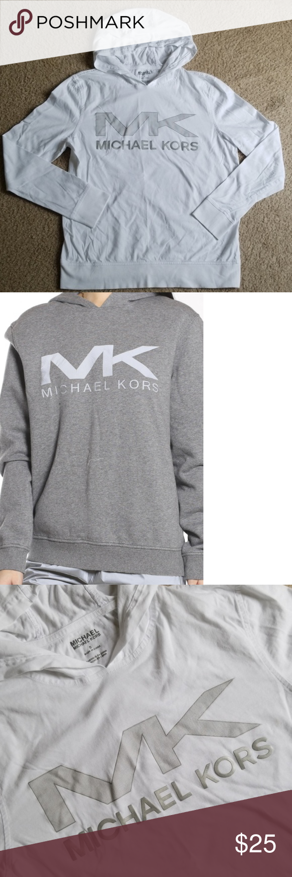 MICHAEL KORS Hoodie Cotton Sweatshirt Size S (With images