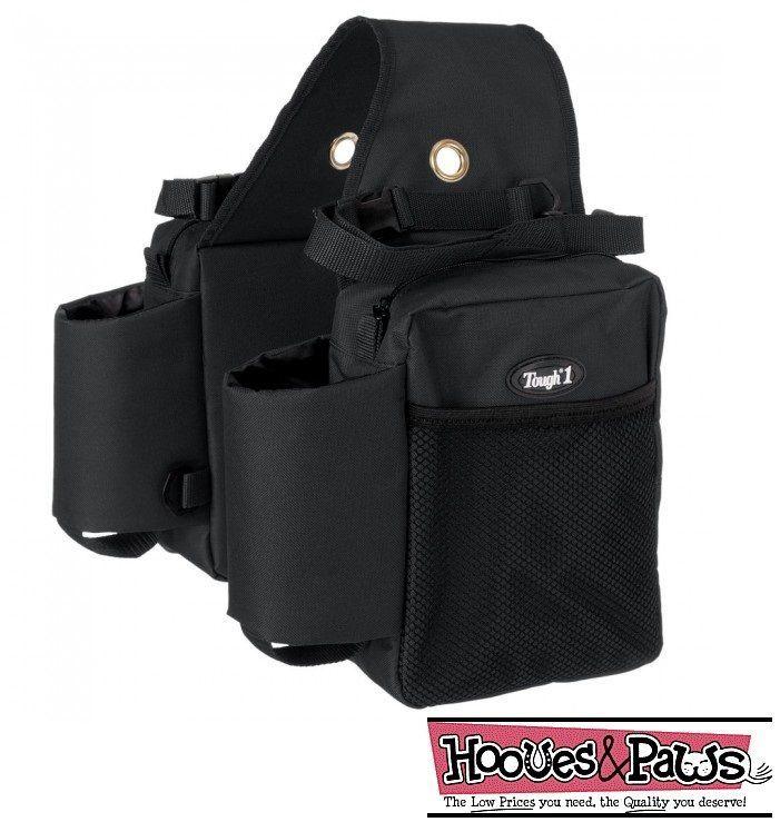 Tough 1 Black Trail Deluxe Heavy Duty Saddle Bag Bags Insulated Horse Tack Tough1 Saddle Bags Horse