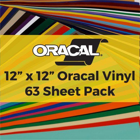 Oracal 651 Vinyl Pack 63 12 X 12 Vinyl Sheets Etsy In 2020 Vinyl Sheets Vinyl Oracal Vinyl