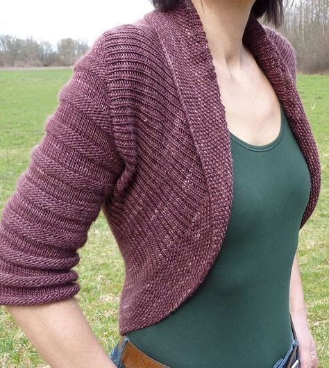 Free Knitting Pattern for Textured Circle Shrug | Sweater ...