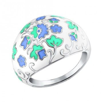 Кольцо с декоративной росписью