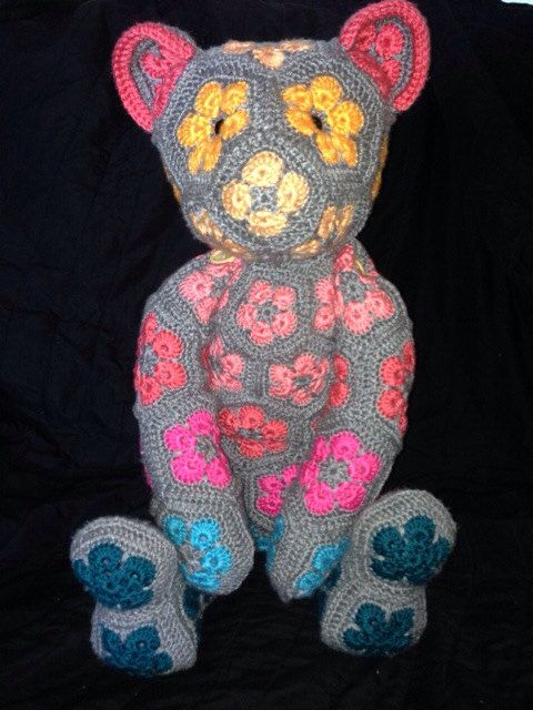 African Flower Teddy Bear on Etsy